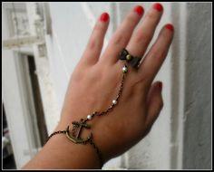 anchor slave bracelet anchor bracelet anchor ring by alapopjewelry.