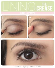 Blend the line gently with your finger to smooth out any edges. That's it! I didn't go further with Carissa's makeup because I wanted this technique to be the only focu