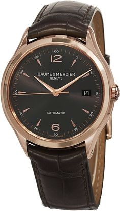 Men watches Best watches for men Baume & Mercier Men's BMMOA10059 Clifton Analog Display Swiss Automatic Brown Watch