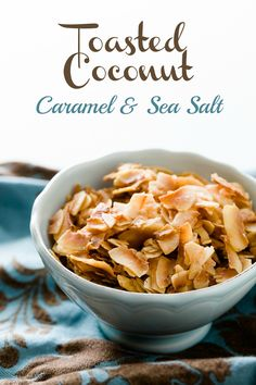 How To Make Toasted Coconut Chips with Sea Salt and Caramel - from Cupcake Project