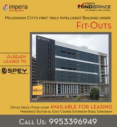 MindSpace, Commercial office complex by Imperia Structures, is located at Sector Golf Course Extension Road,Gurgaon. Offering office Space & food court spaces with A. Space Food, Food Kiosk, Commercial Property For Sale, Smart City, Food Court, Retail Shop, Golf Courses, How To Plan, Building