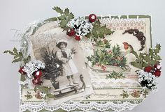Christmas Card - The Holly and the Ivy using Pion Christmas in Norway Collection