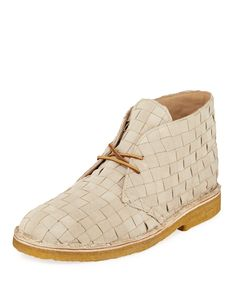 b9cad24e930 x Clarks Originals Mens Woven Leather Desert Boot