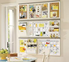 wall organizer idea from Pottery Barn - for organizing orders and to-do lists