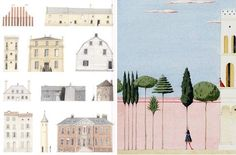 Welcome — Michael Ryan Design Building Illustration, Illustration Art, Miniature Houses, Garden Art, Illustrators, Taj Mahal, Drawings, Artwork, Artist
