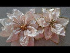 Como hacer flores de navidad o noche buena, muy fácil. - YouTube