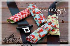 Seat belt cushions KINDERleicht und schön | Nähen mit Cherrygrön: Gurtpolster fürs Auto (Acherkogel)