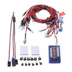 Highlight-12-LED-Flashing-Light-System-for-RC-Cars-G-T-POWER-Smart-PPM-FM-FS
