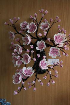 "ветвь""Сакура в цвету"" | biser.info - всё о бисере и бисерном творчестве"