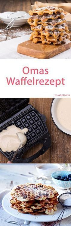 Waffelteig: Grandma's warming basic recipe - Backen süß - For Life Food Waffle Recipes, Baking Recipes, Bread Recipes, Sweet Bread Meat, Best Pancake Recipe, Sweet Cakes, No Bake Desserts, Sweet Recipes, Sweets