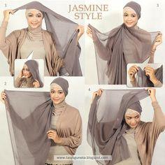 Pretty in Veil: Hijab Tutorial Paris : Jasmine Style