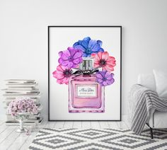Excited to share the latest addition to my #etsy shop: Miss Dior Perfume Instant Download, Watercolor Fashion Illustration Printable, Women Fashion Wall Art Décor, Flower Perfume Digital Download Flower Perfume, Dior Perfume, Fashion Wall Art, Miss Dior, Watercolor Fashion, Wall Art Decor, Glass Vase, Art Prints, Illustration