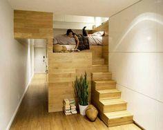 Dit appartement in New York ziet er best ruim uit. Toch is het slechts 45 m2 groot. Slim gedaan!