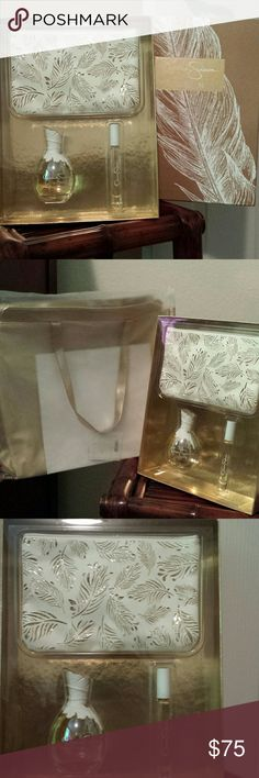 New Jessica Simpson ten purfume with tote bag ! Poshers this is a brand new Jessica Simpson ten perfume 3.4 oz with roller ball 2 oz! Retail value of $85.00 / this gift set includes a gorgeous gold tote bag ! Jessica Simpson Other