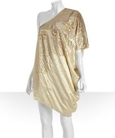 Gold sequin silk side drape dress....there is a reason why this is sold out!