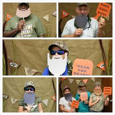 Photo booth and props I made for the Duck Dynasty party.