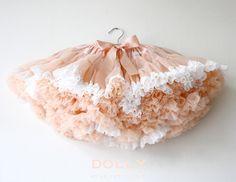 ČIPKOVÁ PETTI SUKŇA marhuľová Dolly Dress, Marie Antoinette, Eat Cake, Lace Trim, Tutu, Baby Kids, Sweet, Color, Collection