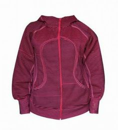 Lululemon Yoga Scuba Hoodie Classic Stripe Printed Fuchsia : Lululemon Outlet Online, Lululemon outlet store online,100% quality guarantee,yoga cloting on sale,Lululemon Outlet sale with 70% discount!$59.69