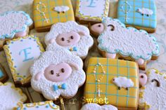Dear Sweet: Boys love the little lamb face on the flower cookie