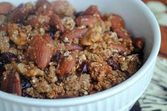Toasted Quinoa Granola --wonder if I could just omit the oatmeal and cut the honey/maple syrup by 1/3?  Need a cheaper granola than many all-nut paleo recipes.