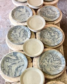 Carrara u0026 Onyx plates are ready to head to the Kilns! : onyx ceramic plates - pezcame.com