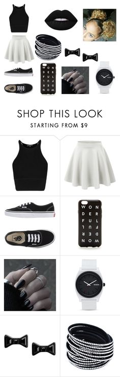 """Untitled #145"" by ignoredpest on Polyvore featuring LE3NO, Vans, Nixon, Marc by Marc Jacobs, Lime Crime, women's clothing, women, female, woman and misses"