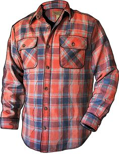 MEN'S BURLYWEIGHT FREE SWINGIN' FLANNEL SHIRT. 8oz flannel.  Extra gussets in the armpits.  Looks awesome!