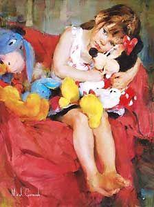Minnie Mouse - Hugs for Minnie - Michael and Inessa Garmash - World-Wide-Art.com - $795.00 #Garmash #Disney #Mickey
