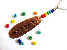 Copper Chakra Necklace Reiki Namaste Pendant Seven by Hendywood, $20.00
