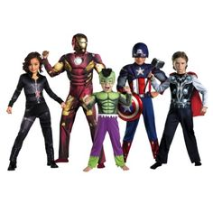 Marvel Avengers family costume ideas for Halloween. The Avengers are always changing too so you can be any of the characters that have joined the team ...  sc 1 st  Pinterest & female superhero costumes for kids | girls black widow avengers ...