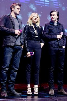 Nick Robinson, Chloe Moretz and Alex Roe attend the Z100's iHeartRadio Jingle Ball [December 11th, 2015]