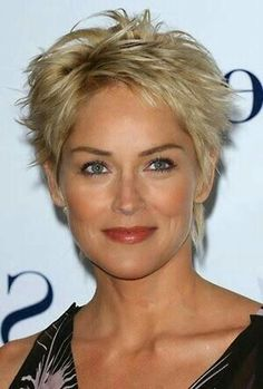 2015 Hairstyles, Hairstyles Over 50, Modern Hairstyles, Trending Hairstyles, Quick Hairstyles, Short Hairstyles For Women, Short Haircuts, Sharon Stone Short Hair, Sharon Stone Hairstyles