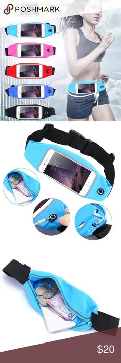 iPhone 6/6S & iPhone 6Plus/6S Plus Waist Bag Pouch Waterproof sport gym waist bag pouch. For iPhone 6/6S cases: available in Navy Blue, Light Blue, Red, Rose Pink & Green For iPhone 6 plus/6S plus cases: available in Navy Blue, Red, Rose Pink & Green Accessories Phone Cases