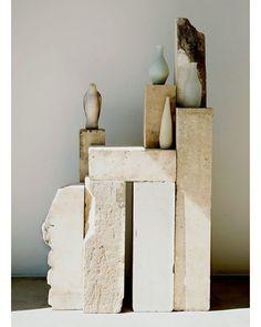 """Set in Stone"", (Raw plinths/tables), pinned by Ton van der Veer Bedroom Minimalist, Minimalist Art, Paperclay, Art Object, Ceramic Art, Decoration, Sculpture Art, Still Life, Stoneware"