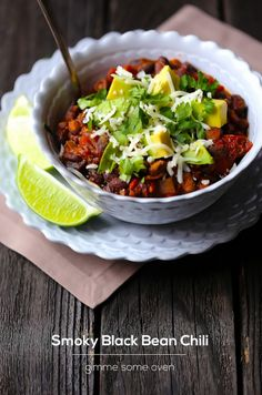 Smoky Black Bean Chili | 24 Delicious Chili Recipes That Are Perfect For Cold Weather
