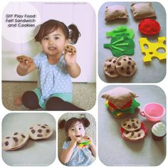 Macdonald's Playland - the blog: DIY Play Food: Felt Sandwich & Cookies - & my love/hate relationship with sewing.