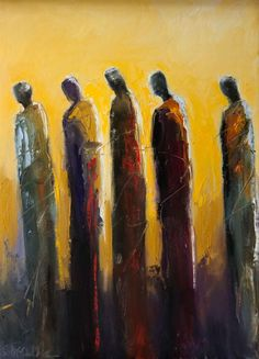 """""""Patience"""" by Shelby McQuilkin abstract figurative, oil painting, contemporary figurative, patience, waiting"""