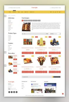 Fruit Gifts Shopify Theme E-commerce Templates, Shopify Themes, Business & Services, Agriculture Templates, Fruit Templates