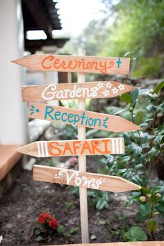 Wedding signs-cute to have a ceremony sign, when people arrive they never know where to go