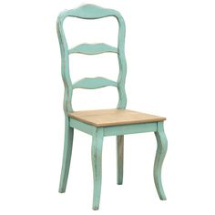 distressed turquoise dining chair by out there interiors | notonthehighstreet.com