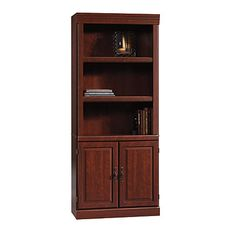 "Sauder® Heritage Hill 2-Door Bookcase, 71 1/4""H x 29 3/4""W x 13""D, Classic Cherry"