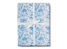 River Toile Wrap by Danielle Kroll for @redcapcards #illustration #feminine #design #illustrations #wrappingpaper #paper #giftwrap #toile