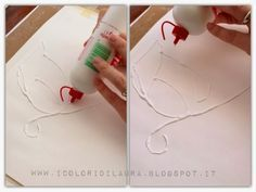 Acquerello facile per i bambini...vi svelo un trucco! - I colori di Laura Leaf Crafts, Baby Crafts, Toddler Crafts, Kids Crafts, Projects For Kids, Diy For Kids, Gifts For Kids, Drawing Projects, Art Projects