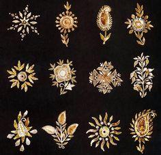 Kamdani or badlawork motifs
