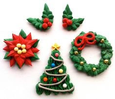 Royal Icing Christmas Cupcake Toppers