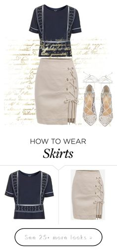 """""""Lace-Up Skirt and Shoes"""" by sillycatgrl on Polyvore featuring Topshop and Christian Louboutin"""