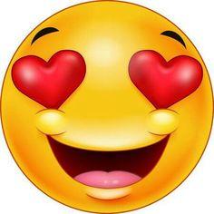 Smiley emoticon feeling in love Royalty Free Vector Image Emoticons Do Whatsapp, Funny Emoticons, Love Smiley, Emoji Love, Funny Emoji Faces, Silly Faces, Smiley Emoji, Clipart, Naughty Emoji