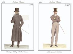 A Thousand Pixels: Costume Parisien Napoleon-era fashion plates for MEN