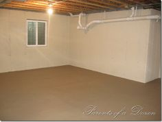 paint ideas for unfinished basement - great way to brighten up an unfinished basement!