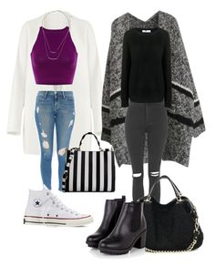Street Fashion by tamara-katharina on Polyvore featuring polyvore, fashion, style, Finders Keepers, Non, Topshop, Frame Denim, Converse, Dolce&Gabbana, H&M and clothing